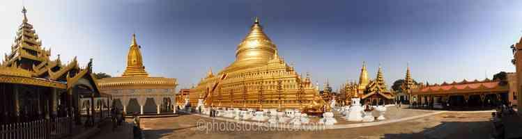 Shwezigon Pagoda Stupa