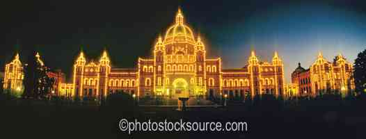 Parliament Buildings at Night