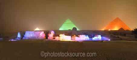 Giza Pyramids Lightshow