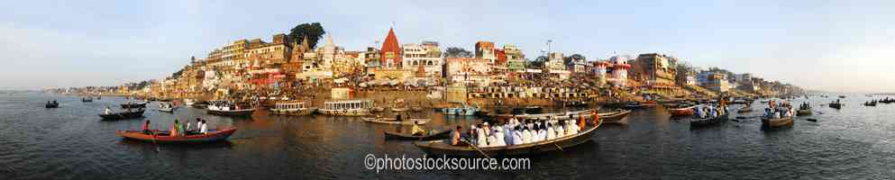 Boats on Ganges River