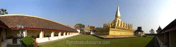 That Luang Stupa Courtyard