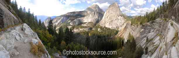 Half Dome and Liberty Cap
