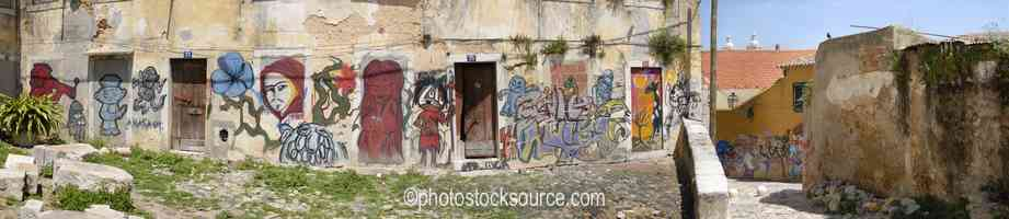 Alfama Graffiti Wall