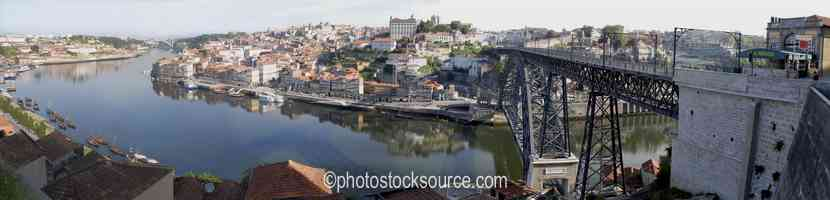 Oporto From Bridge Morning