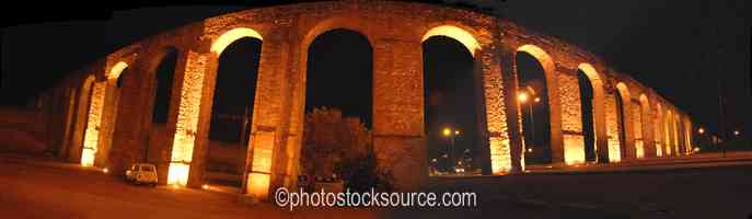 Evora Aqueduct at Night