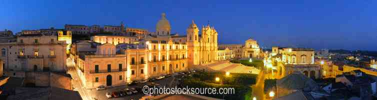Noto Cathedral at Night