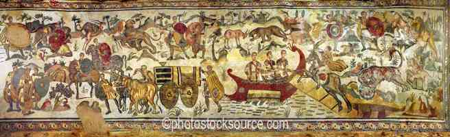 Great Hunting Scene Mosaic