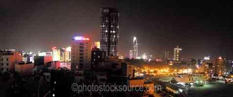 Saigon Skyline at Night