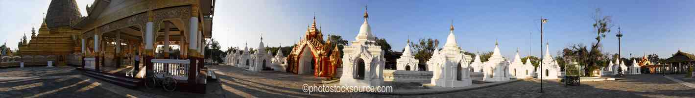 Kuthodaw Pagoda Shrines