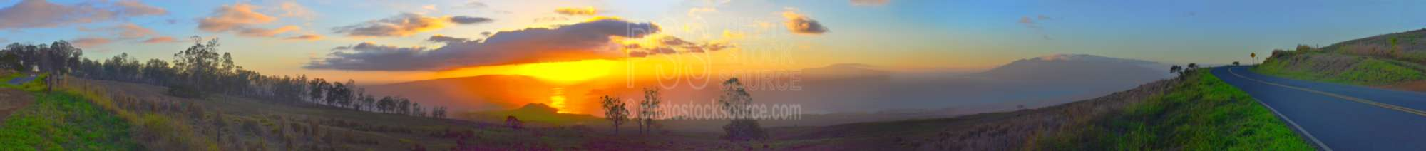Sunset over Makena Bay