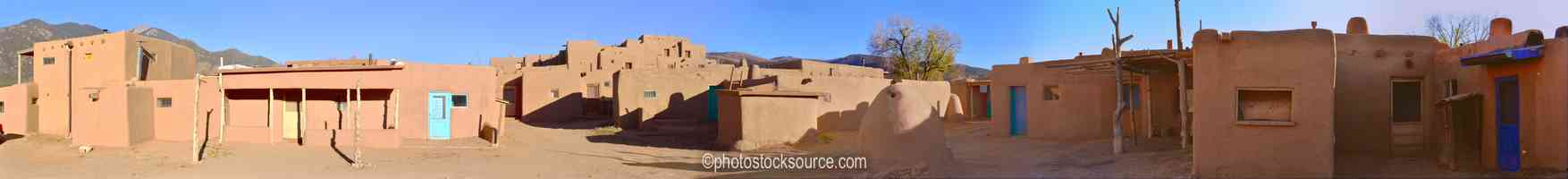 Taos Pueblo Adobe Buildings