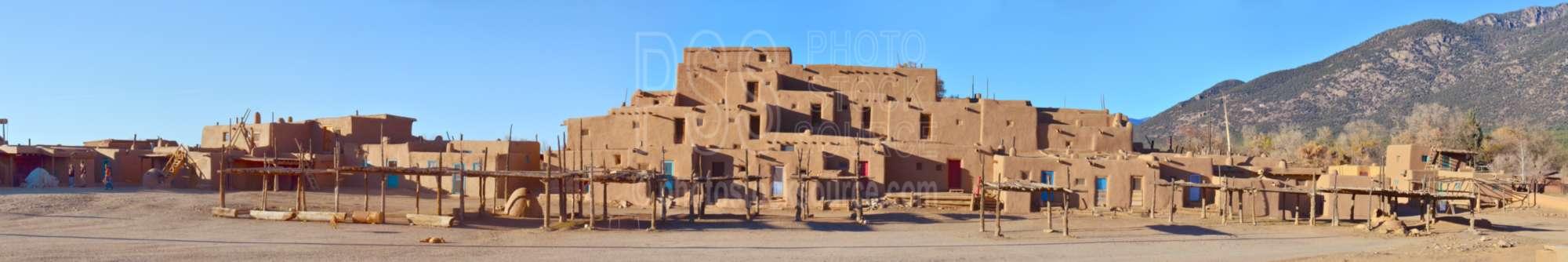 Taos Pueblo Adobe Buildings