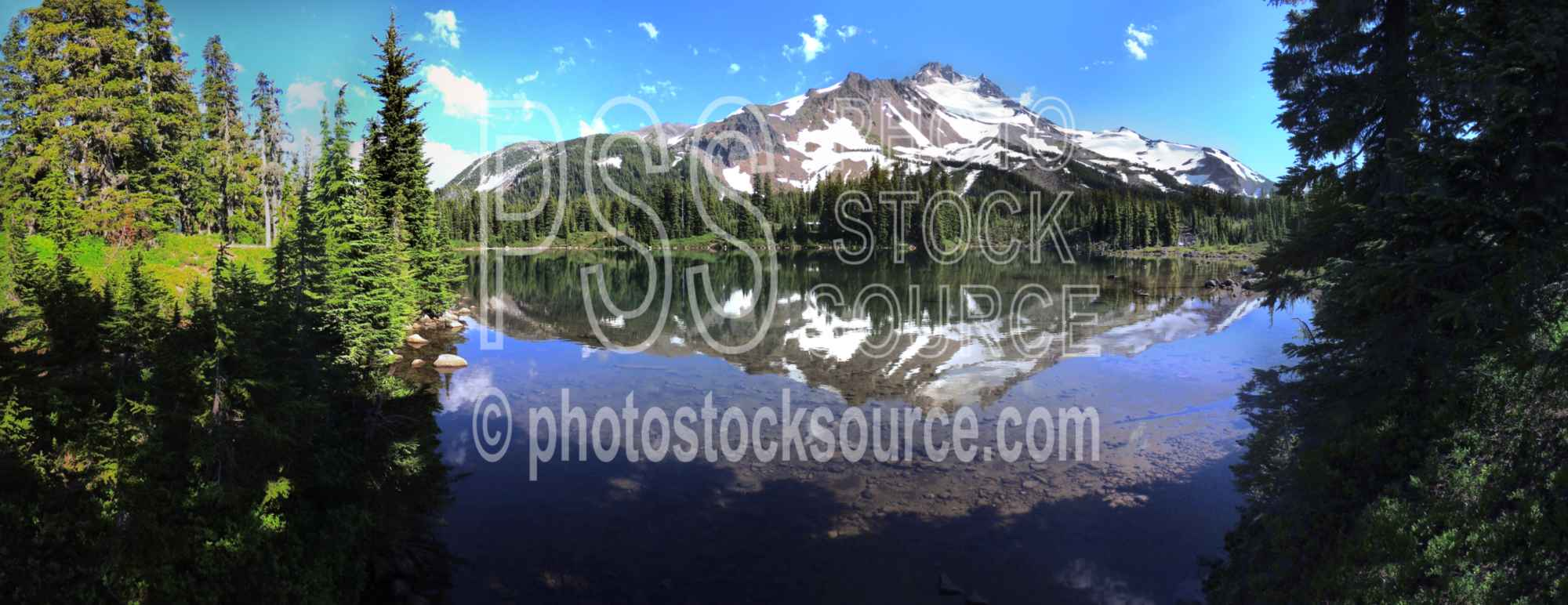 Mt Jefferson from Scott Lake