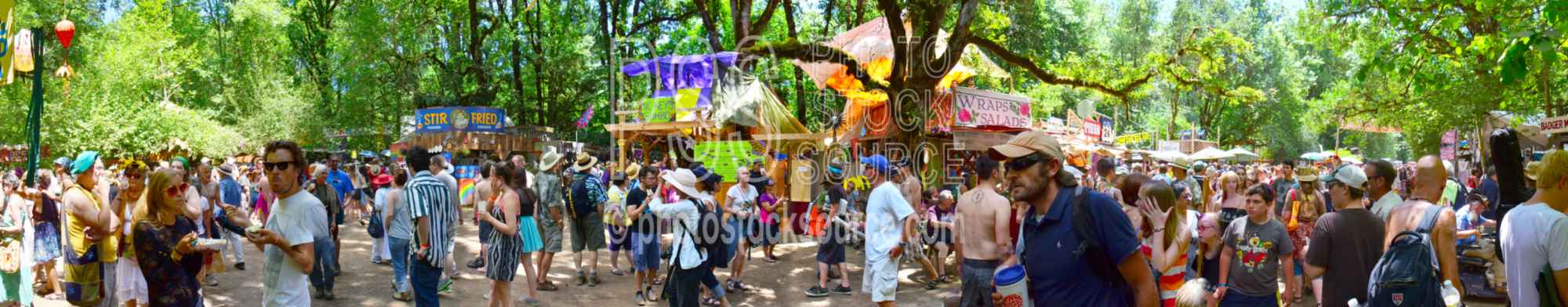 Crowd at Oregon Country Fair