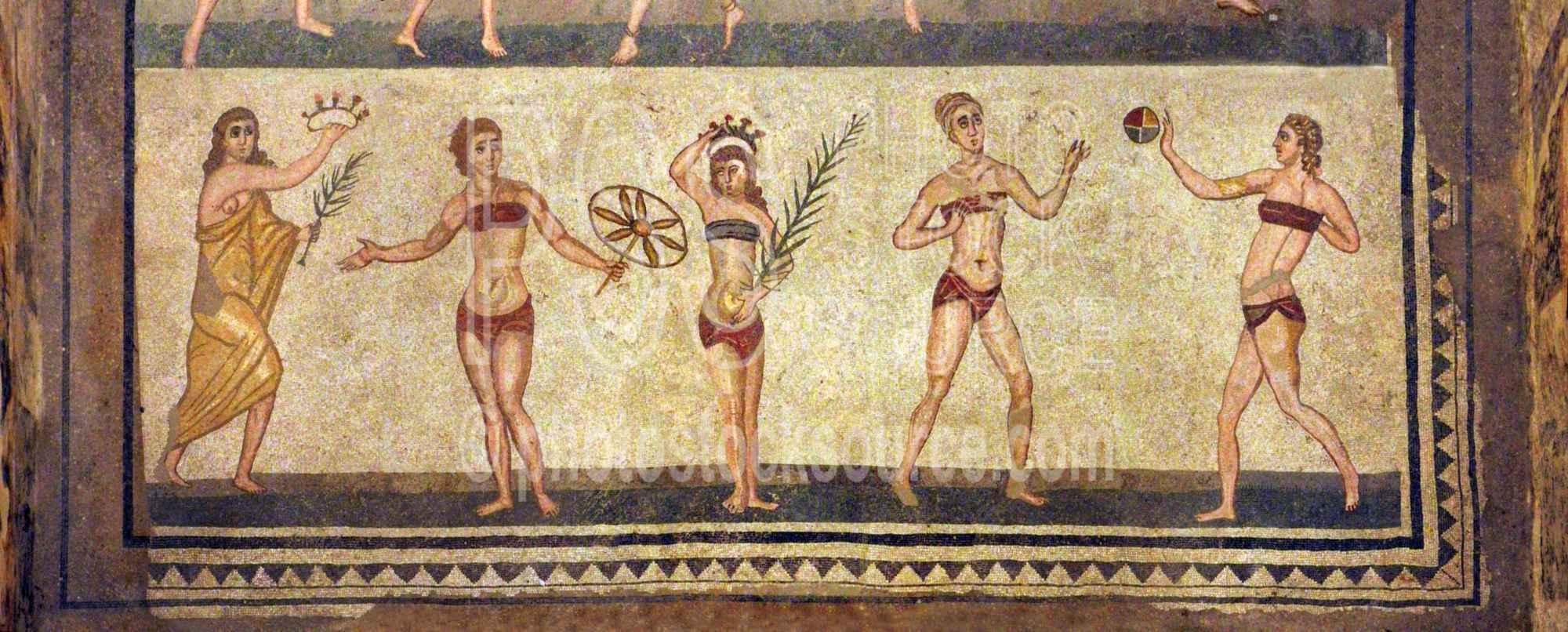 Villa Romana Gymnasts Mosaic