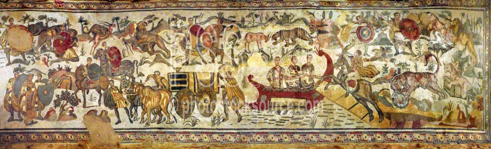 Great Hunting Scene Mosaic