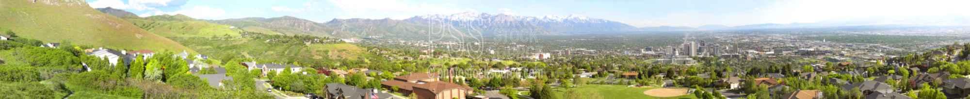 Salt Lake City at Ensign Peak